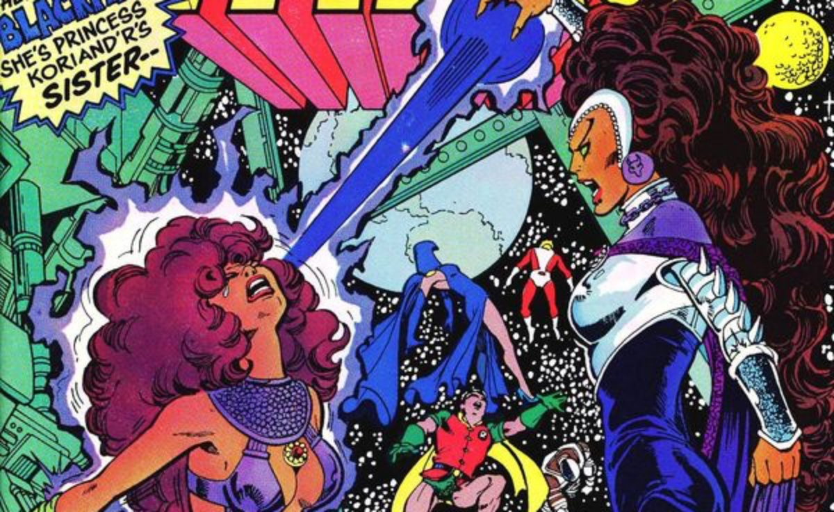 blackfire v starfire in comics
