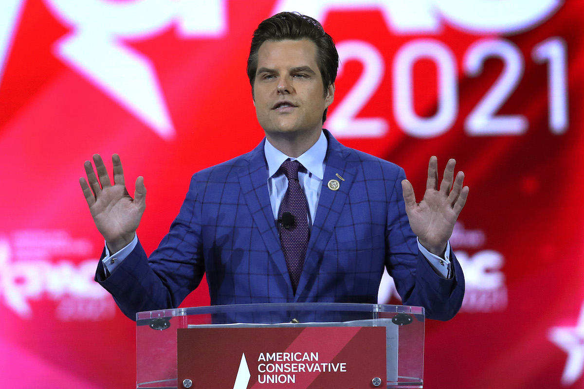 Rep. Matt Gaetz addresses the Conservative Political Action Conference