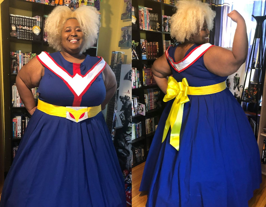 Me in a ballgown version of All Might