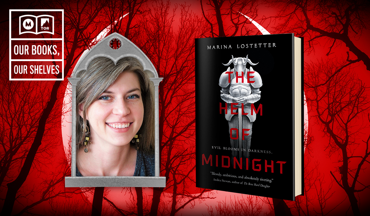 Marina Lotsetter and her book, Helm of Midnight