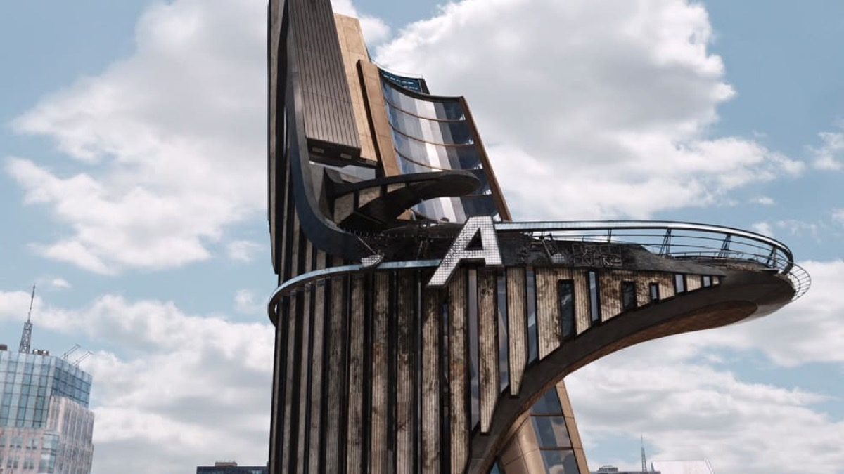 Avengers Tower after the Battle of New York in The Avengers.