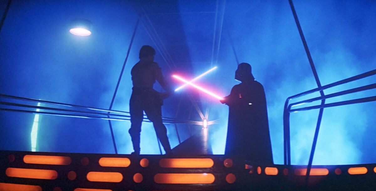 Luke and Vader face off in Empire Strikes Back