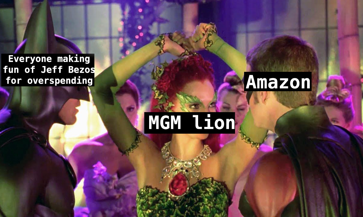 Batman and Robin auction scene but about Amazon