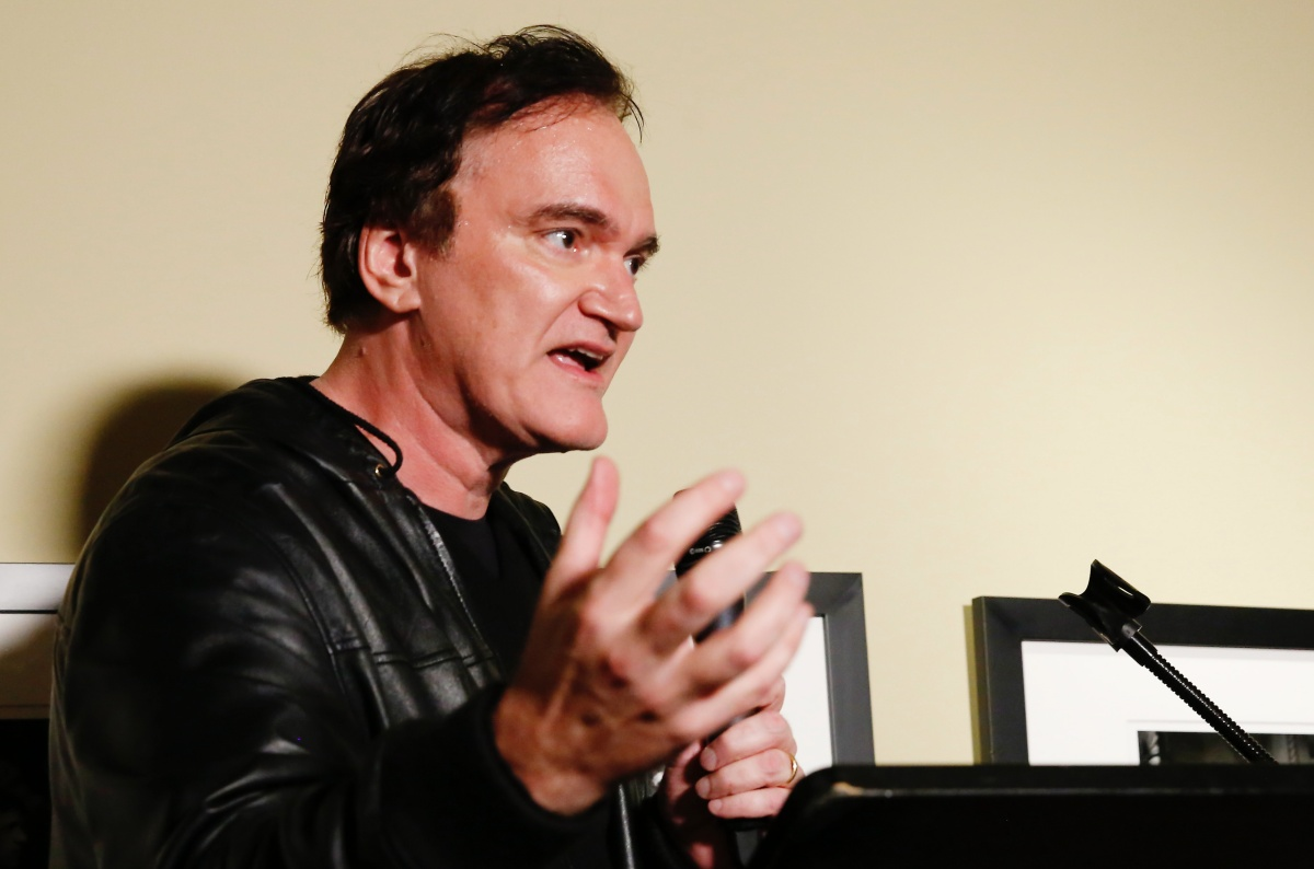 LOS ANGELES, CALIFORNIA - JANUARY 29: Quentin Tarantino accepts the 'Lifetime Achievement Award' onstage during the Fourth Annual Kodak Film Awards at ASC Clubhouse on January 29, 2020 in Los Angeles, California. (Photo by Rachel Murray/Getty Images for Kodak)