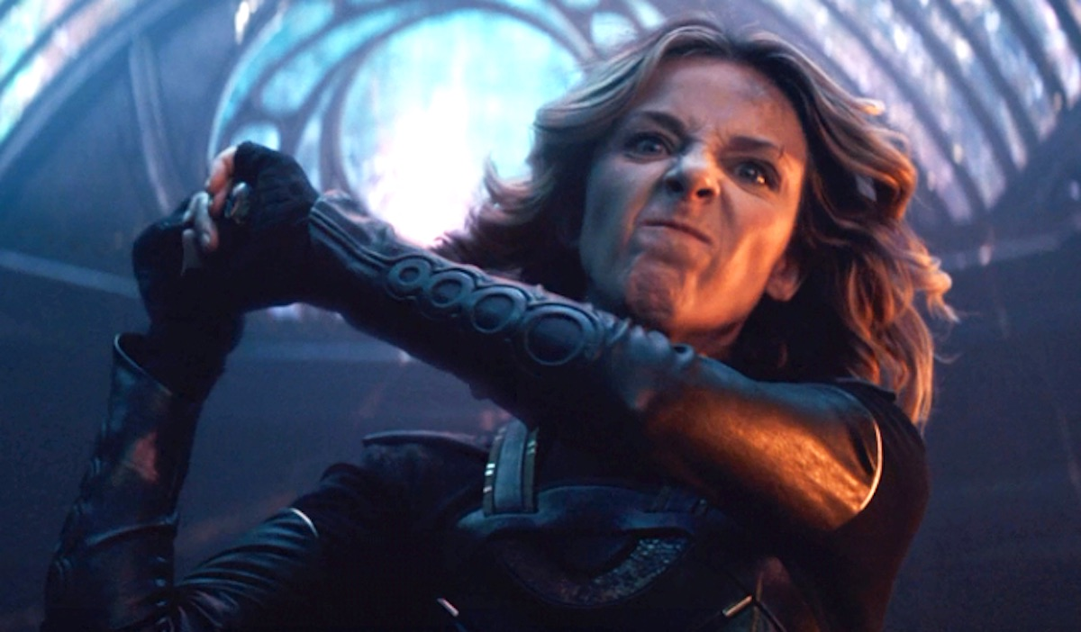 Sophia Di Martino as Sylvie on 'Loki,' looking angry and about to attack.