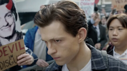 Tom Holland as Peter Parker in spider-Man No Way Home
