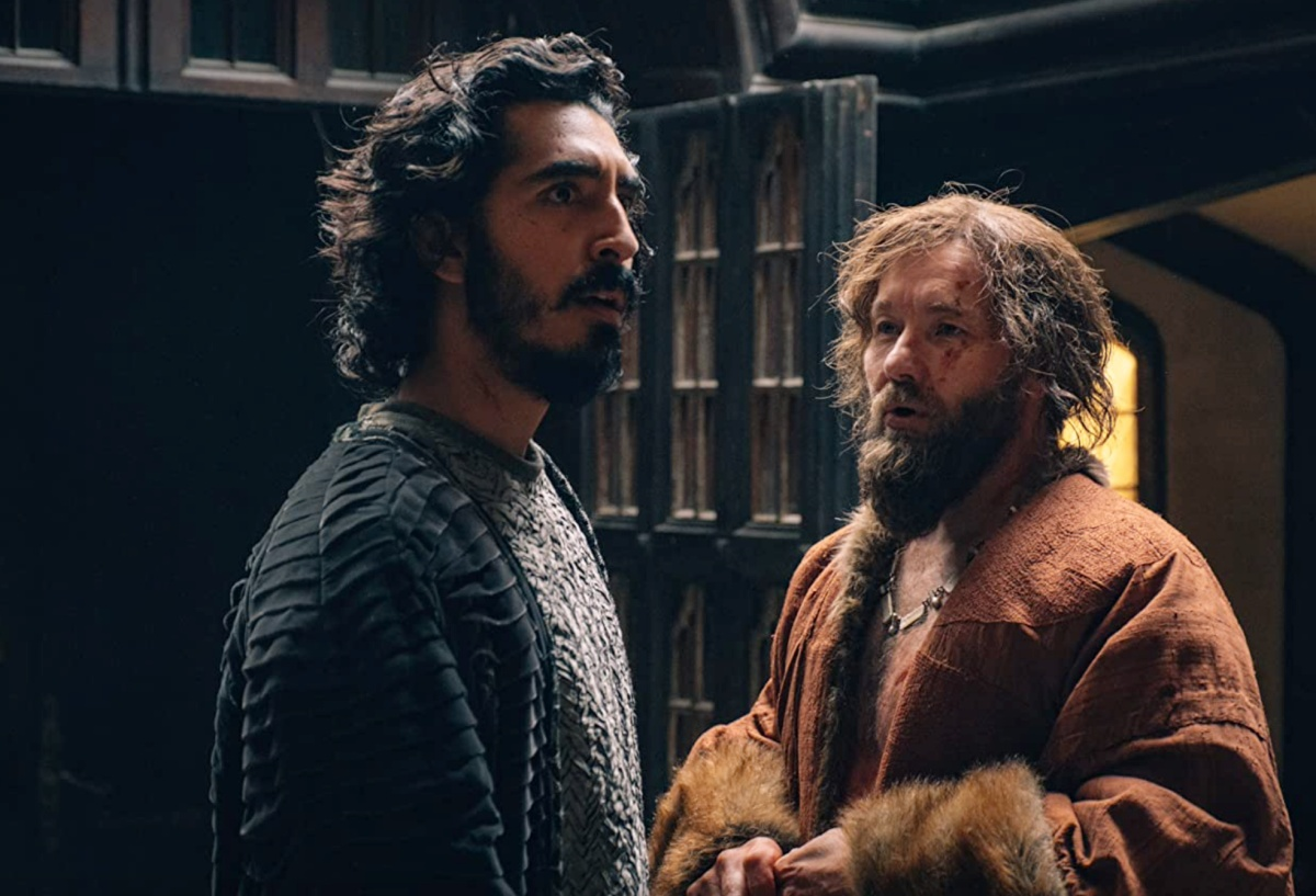 Joel Edgerton and Dev Patel in The Green Knight (2021) just about to be bros