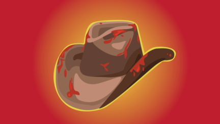 Bloodied cowboy hat representing the RWA (Romance Writers of America) controversy. (Graphic: Alyssa Shotwell)