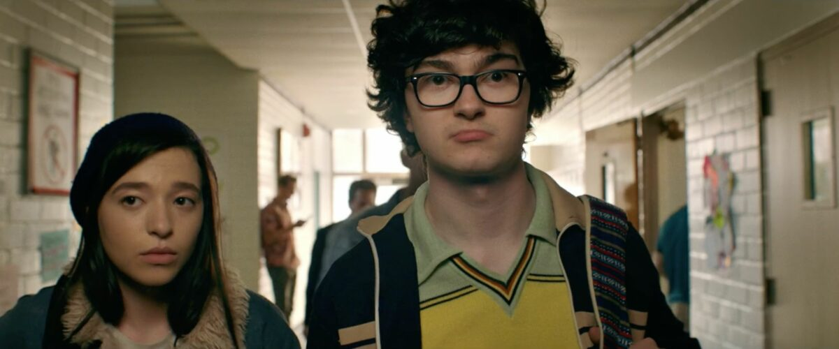 Jared Gilman and Mikey Madison in It Takes Three