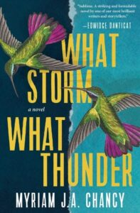 """""""What Storm, What Thunder"""" by Myriam J.A. Chancy book cover. (Image: Tin House Books.)"""