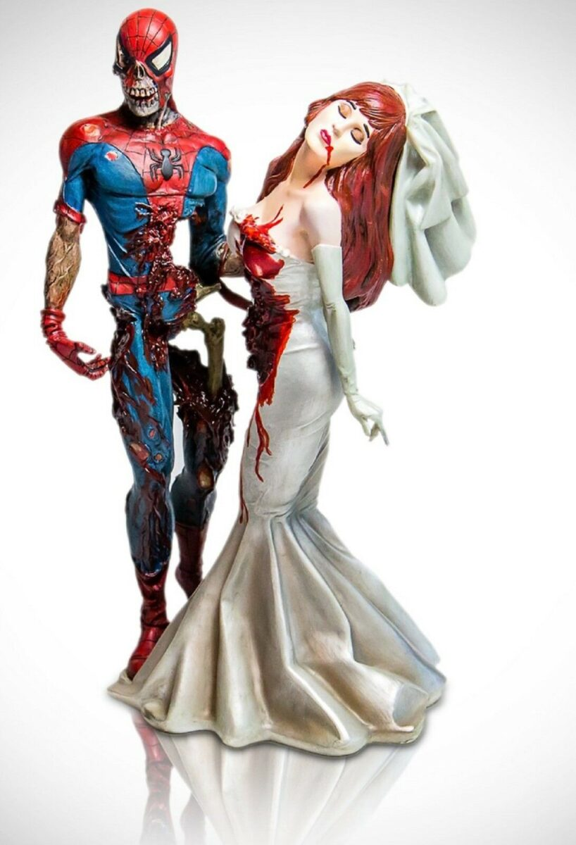 Spider-Man and Mary Jane Marvel Zombie statue