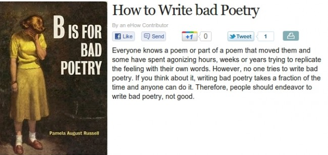 How To Write Bad Poetry