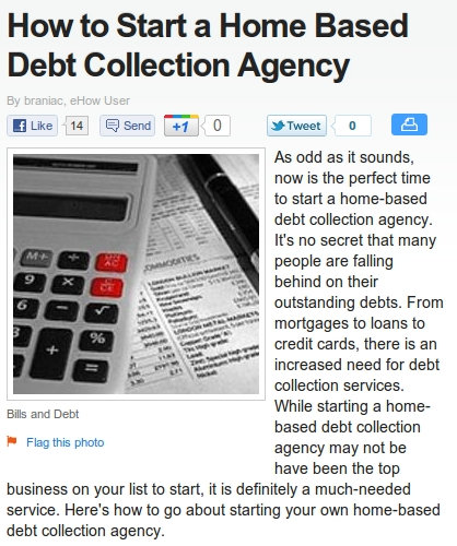 How To Start A Home-Based Debt Collection Agency
