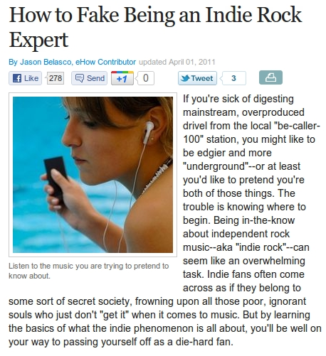 How To Pretend To Be An Indie Rock Expert