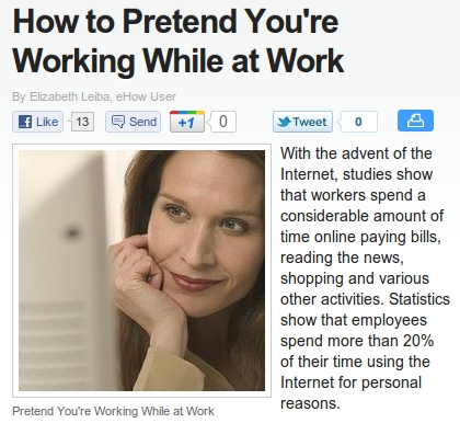 How To Pretend You're Working While At Work