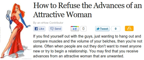 How To Refuse The Advances Of An Attractive Woman